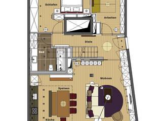 Maisonettewohnung: modern  von eswerderaum,Modern