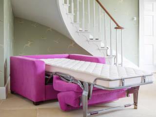 Sleigh Bed Low Modern Oturma Odası THE STORAGE BED Modern