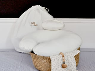 Coussin d'allaitement et son coussin cale tête bebe par Poudre Organic Classique