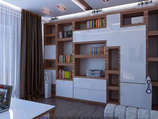 Интерьеры в стиле экоминимализма Рабочий кабинет в стиле минимализм от Architoria 3D Минимализм