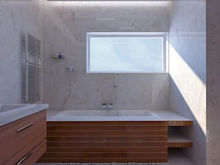 Baños minimalistas de Architoria 3D Minimalista
