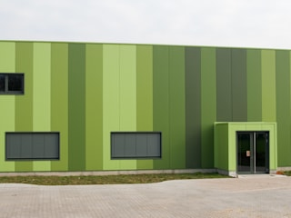 Green Unlimited - Office and Warehouse in Lampertheim-Hüttenfeld Helwig Haus und Raum Planungs GmbH Moderne kantoorgebouwen