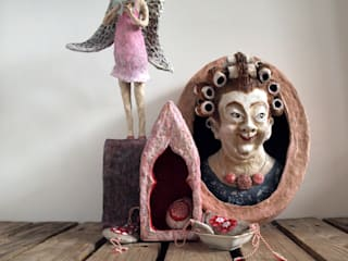 Handgemaakte sculpturen van papier mache :   door The Paper Moon Factory