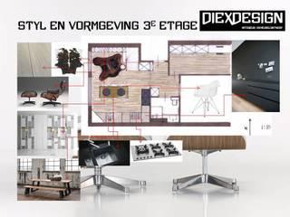 Entwurf appartement Moderne Wohnzimmer von DIEXDESIGN Modern