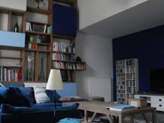 pavillon en dégradé de bleu par alexandre Cochet