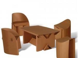 Mobiliario de cartón: Hogar de estilo  de SERISAN