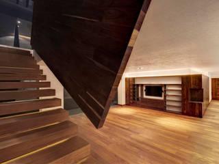 Pasillos y vestíbulos de estilo  de Lopez Duplan Arquitectos,