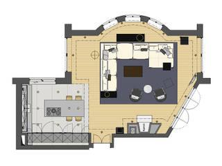 Offene Wohnküche: modern  von eswerderaum,Modern