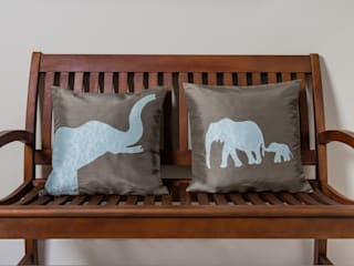 Wild Life Handmade Silk Cushions: asian  by Le Cocon, Asian