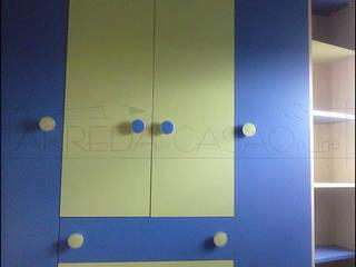 La cameretta verde e blu di Amedeo Francesco Camera da letto moderna di ARREDACASAOnLine Moderno