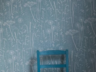 Paper meadow in teal: classic  by Hannah Nunn , Classic