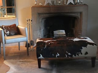 Cowhide Footstool London Cows Living room