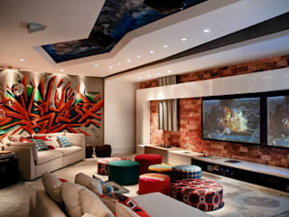 Home Theather CASACOR Asian style media room by Arte do Rizo Asian