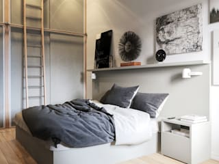 Scandinavian style bedroom by sreda Scandinavian