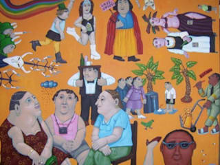 """""""3 gays unio"""" 92 x 73cm par Peintre Blanchard"""