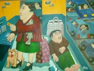 """""""banco"""" 70 x 50cm par Peintre Blanchard"""