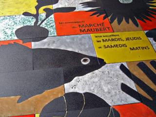 Fresque place parisienne Murs & Sols modernes par ulrike weiss céramiques Moderne