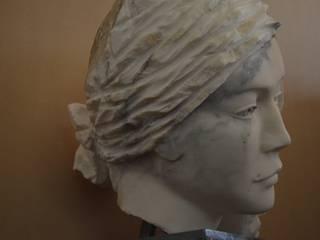 Sculptures en marbre:  de style  par Mancardi Sculpture