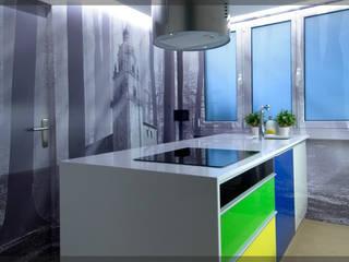 Cocina en Komentu.. Cocinas de estilo moderno de Estudio TYL Moderno