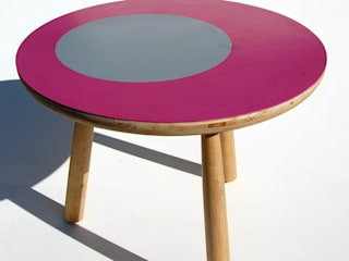 Rubber topped coffee table: modern  by David Arnold Design, Modern