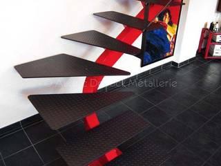 Escalier Design quart-tournant Audric Decock Salle à manger moderne