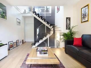 Escalier Métallique Audric Decock Salon minimaliste