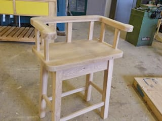Oak stool with arms:   by JLM Bespoke Furniture Limited