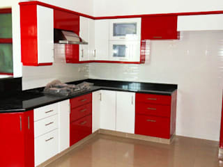 modular kitchen : modern  by RISING STAR STEEL INDUSTRIES,Modern