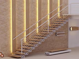 Staircase designs Modern corridor, hallway & stairs by Preetham Interior Designer Modern