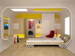 Chambre moderne par Preetham Interior Designer Moderne