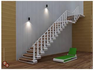 الممر الحديث، المدخل و الدرج من Preetham Interior Designer حداثي
