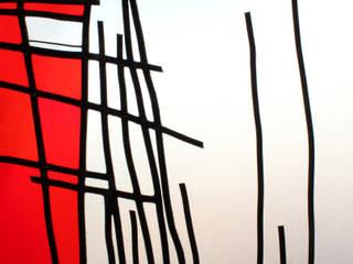 LE DESSIN DE L'ARBRE ROUGE:  de style  par Desislava STOILOVA Artiste verrier