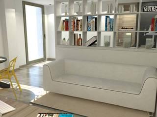 Home staging virtuale Soggiorno moderno di ArchitetturaIN Moderno