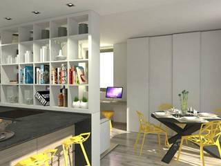 Home staging virtuale Sala da pranzo moderna di ArchitetturaIN Moderno