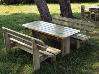 Tavolo e Panchina Margherita:  in stile  di TLF