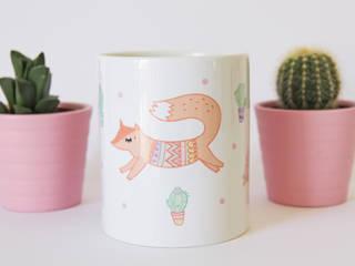 Mug - Les renards jouent aux indiens:  de style  par Charlotte and the teapot