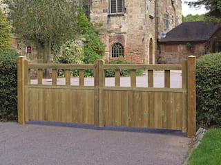 Fortress Wooden Driveway Gates:   by Garden Gates Direct