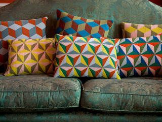 Pentreath & Hall Geometric cushions:   by Fine Cell Work