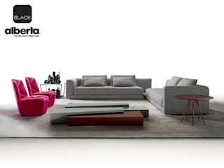 Black Collection Alberta Pacific Furniture Ruang Keluarga Modern