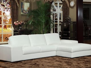 Designing with White Leather Sofa : modern  by Locus Habitat,Modern