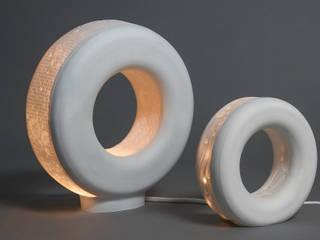 luminaire en lithophanie de porcelaine par Les Souris Blanches Éclectique