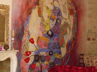 Fresque d'après Klimt: Salon de style  par Oswald Olivato