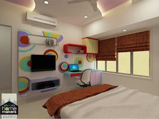 Daughter's Room 4:   by home makers interior designers & decorators pvt. ltd.