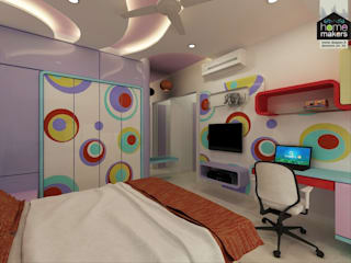 Daughter's Room 3:   by home makers interior designers & decorators pvt. ltd.