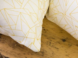 Cracked Ice Minor Mustard fabric by Flock