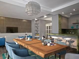 Гостиная, столовая : Гостиная в . Автор – Medianyk Studio