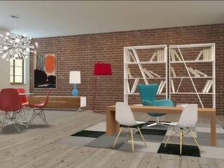 Espacio Coworking. Estudios y despachos de estilo industrial de rh interiorismo Industrial