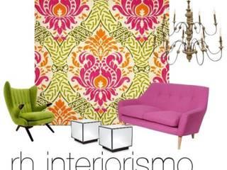 Deco Salón. Salones de estilo moderno de rh interiorismo Moderno