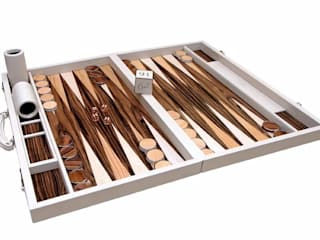 Bespoke Mediterranean Backgammon di Geoffrey Parker Games Ltd Moderno