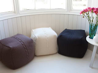 Chunky Cable Pouf par From Brighton With Love Moderne